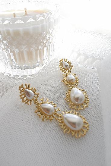 Ava Art Deco Inspired Bridal Earring