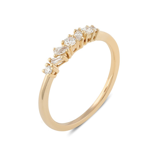 Muse Diamond Wedding Band - Gold