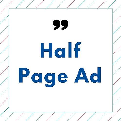 Half Page AD (Program Book)