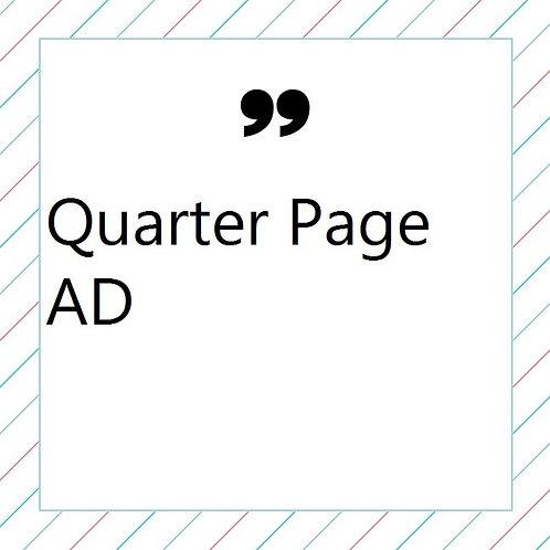 Quarter Page AD (Program Book)