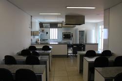 Sala de aula para cursos de culinária