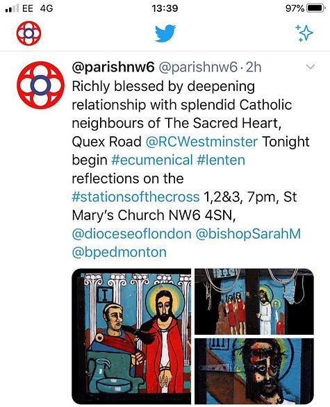St Mary's Tweet.JPG