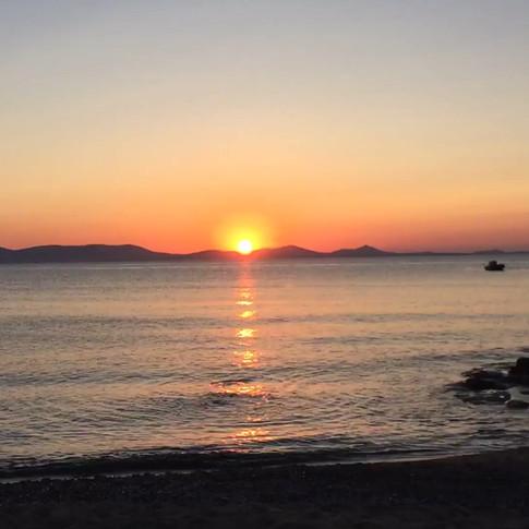 Sunset at Saint George Naxos City