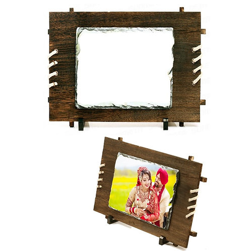 PERSONALIZED ROCK STONE WOODEN FRAME