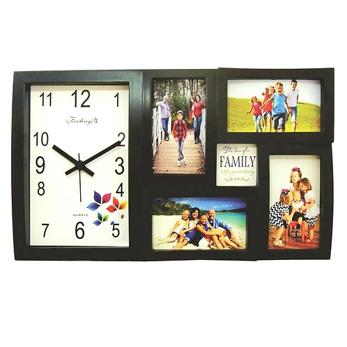 PERSONALIZED FEELINGS RAINBOW WALL CLOCK AND PHOTO FRAME