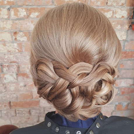 Bridal hair styling created for Alanna's
