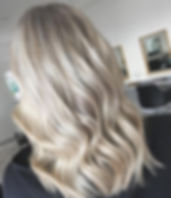 Full head of foils, toner and haircut on