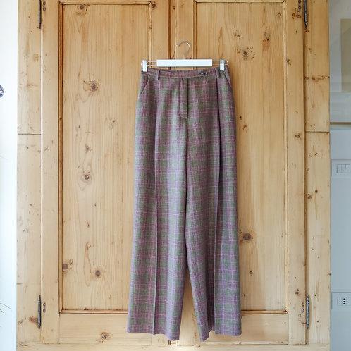 Pantalone largo a vita alta