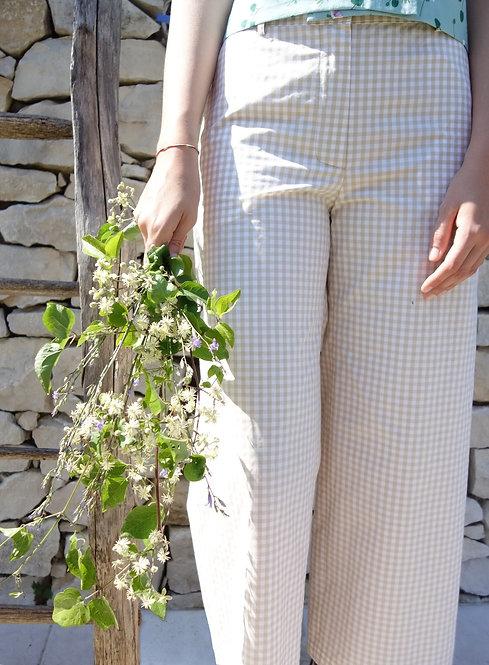 Pantaloni in cotone vichy