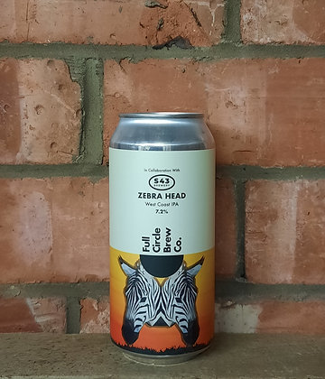 Zebra Head – Full Circle X S43 – 7.2% West Coast IPA