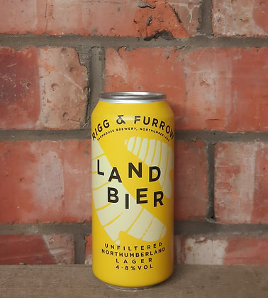 Land Bier – Rigg & Furrow – 4.8% Unfiltered Northumberland Lager