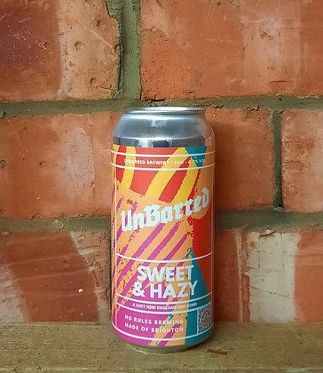 Sweet & Hazy  – Unbarred – 6.2% New England Hop Bomb