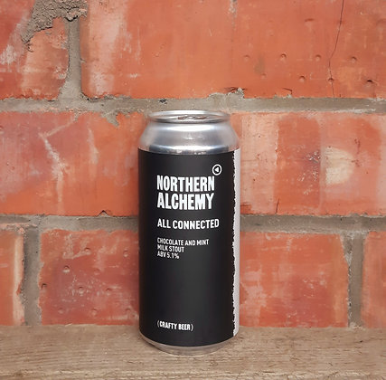 All Connected – Northern Alchemy – 5.1% Dark Chocolate & Mint Milk Stout