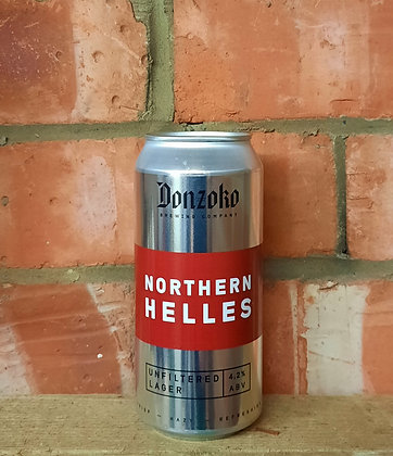 Northern Helles – Donzoko – 4.2% Unfiltered Lager
