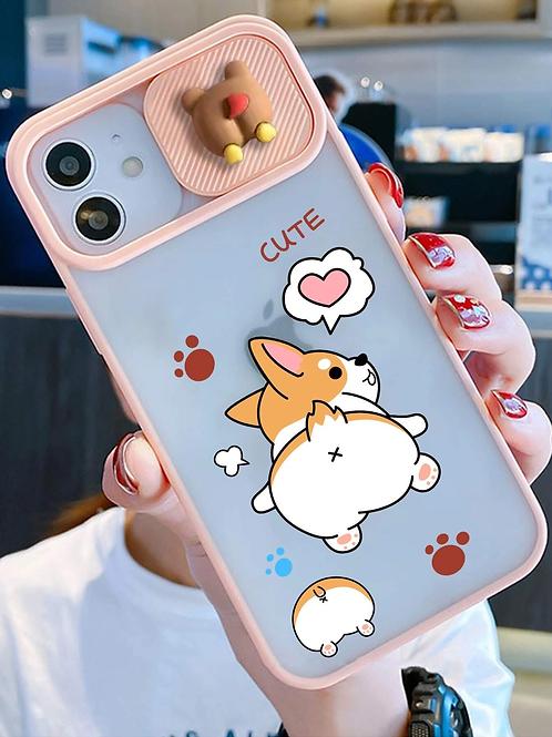 Case para iPhone Cachorrinho 3D - Translúcida