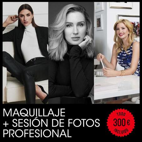 Maquillaje + sesión de fotos profesional