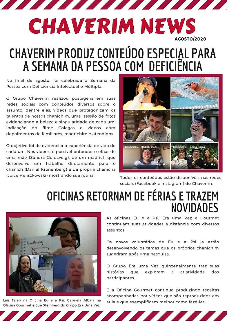 Newsletter Chaverim - agosto 2020 pg 1.j