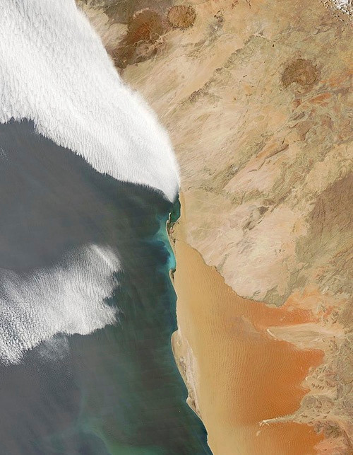 Benguella current on Skeleton Coast