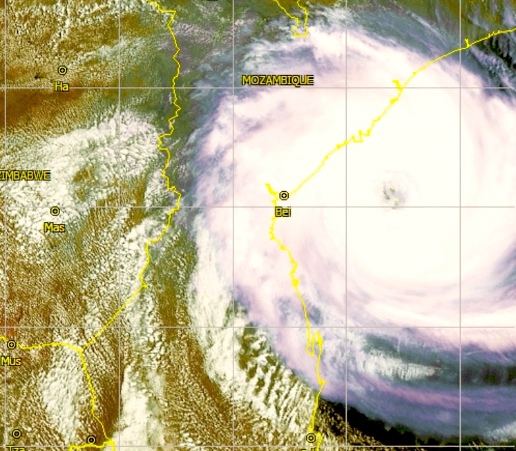 Cyclone off Mozambique 16th March 2019