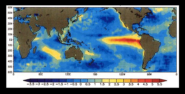 El Nino 'warm tongues' crossing oceans