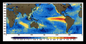 El Nino 'warm tongues' crossing oceans