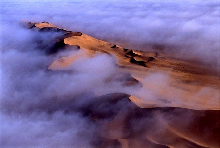 Desert Dunes Fog Namibia