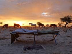 Namib Desert Safari bed with a view