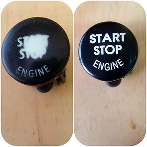 START BUTTON START ENGINE CAR9250734 CORVETTE 4F1905217 BUTTON 7302402076 START LR014015 BEFORE AFTER RESTORATION BUTTON