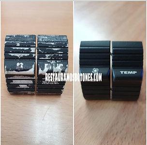 climatizador porsche bootons clima borrados mandos climatizador pegajosos restauracion de botones porsche botones climatizador porsche s