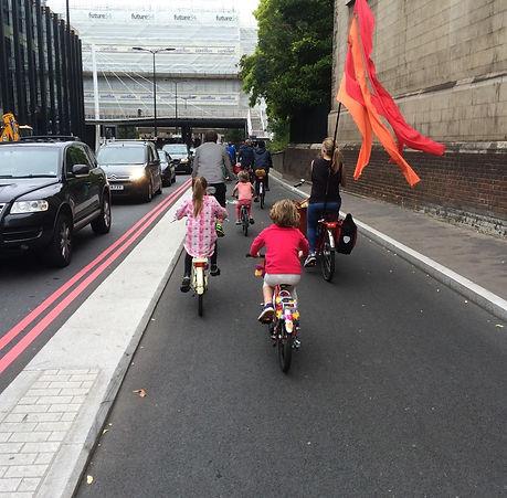 children just ride the bike