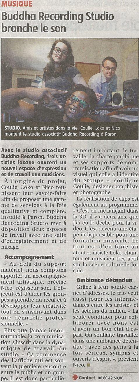 Article de presse L'Yonne Républicaine