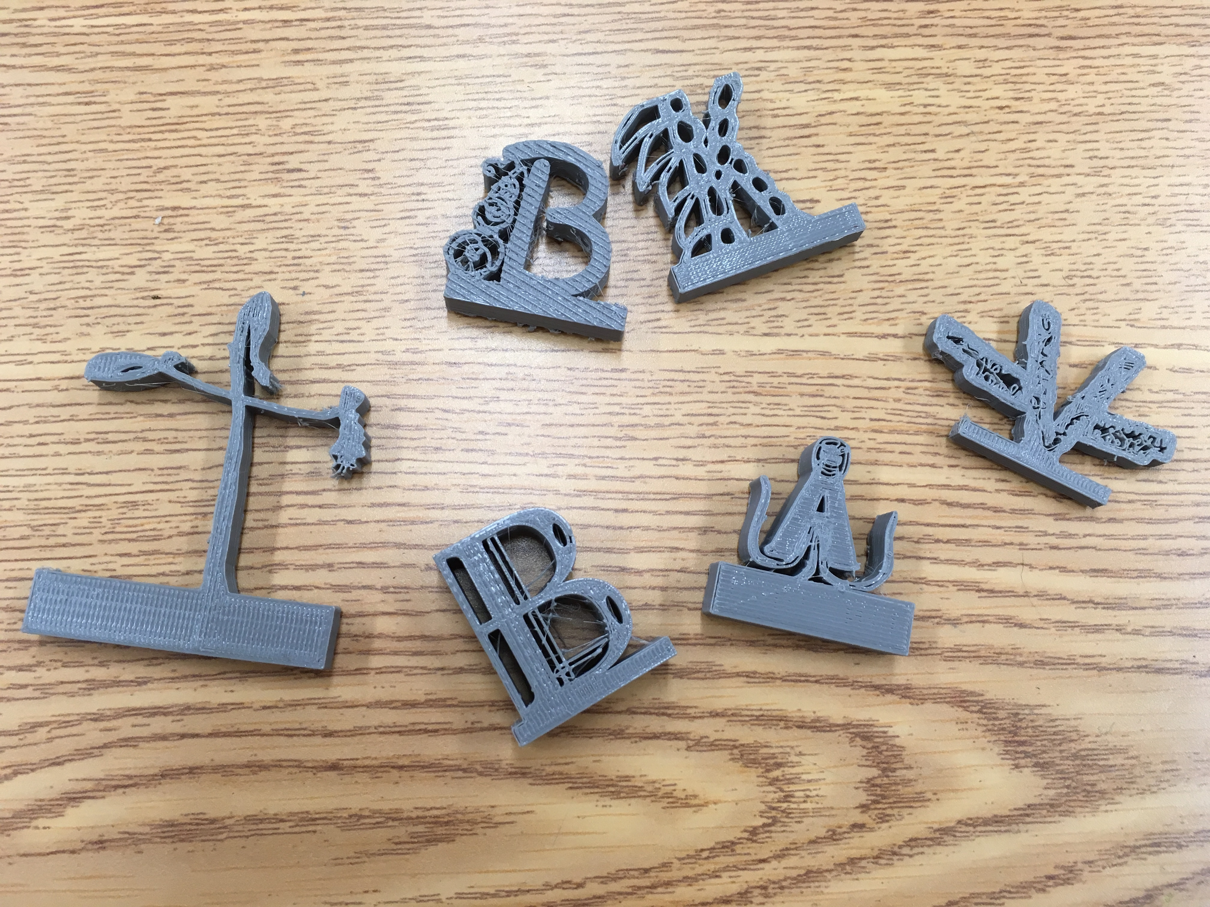 3D Printed Monogrammed Letters 3