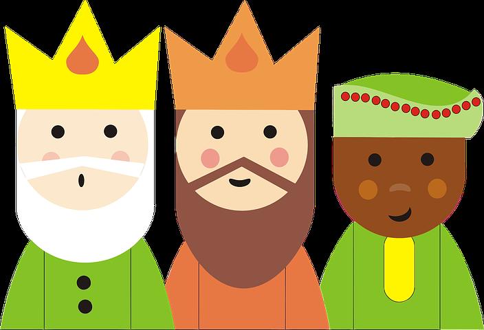 Melchor, Gaspar and Baltasar, the three kings