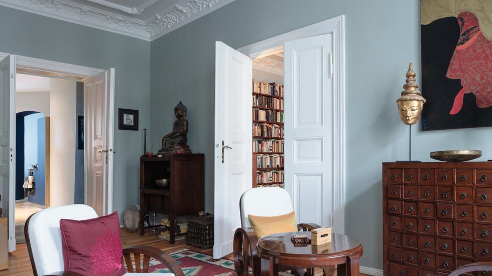 Altbau Schliemann Wohnzimmer