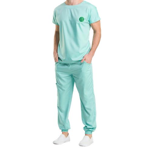 Pijama Cirúrgico Verde  Evolution Logo Oficial  SBCO