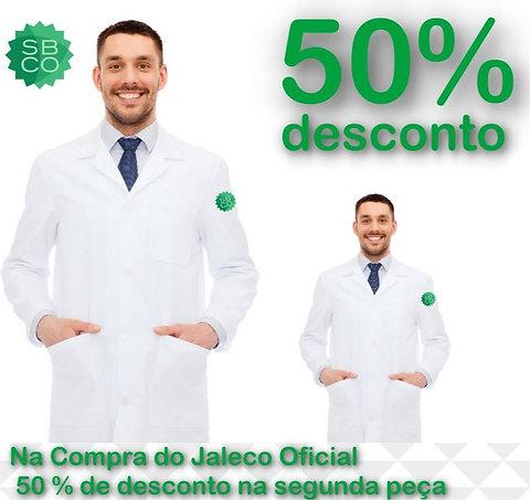 02 Jalecos masculino Microfibra Pesada Evolution logo Oficial  SBCO