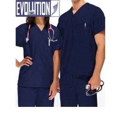 Pijama Cirúrgico Gola V Azul Marinho