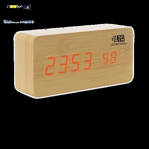 Relógio digital LED com alarme SBEM