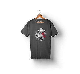 Camiseta Dix Supply  DSP006 Caveira e Rosas
