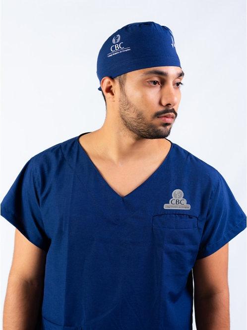 Pijama Cirúrgico CBC Gola V Azul Marinho