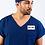 Thumbnail: Pijama Cirúrgico Gola V Azul Marinho