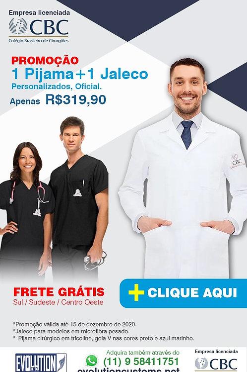 Jaleco Microfibra + Pijama Cirúrgico Tricoline