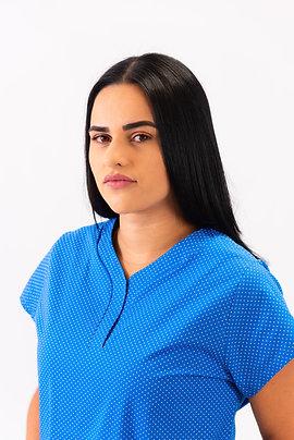 Scrub Feminino Gola Sport Chic  tricoline