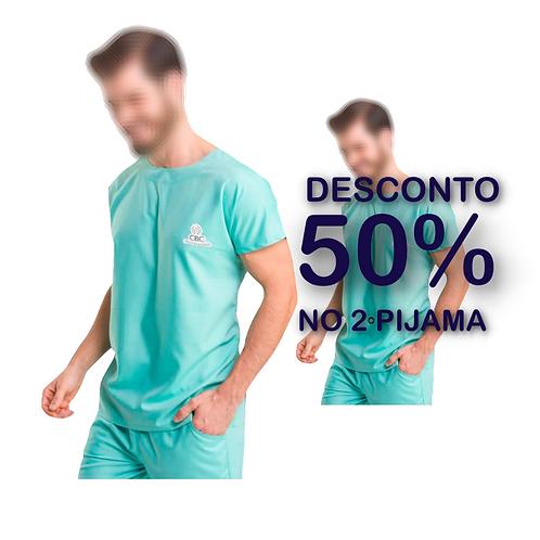 02 Pijamas Cirúrgico Oficial Verde CBC