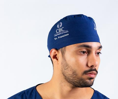 Touca Cirúrgica Azul Marinho