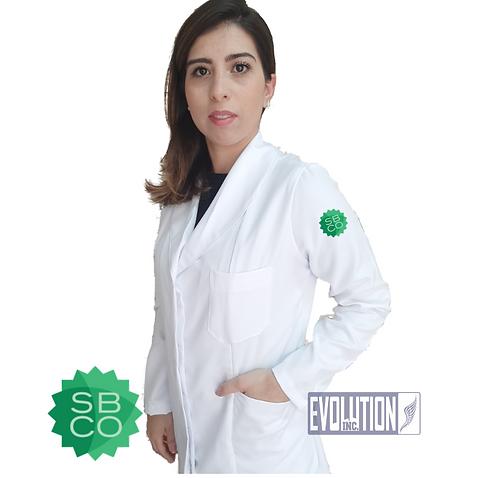Jaleco Feminino Super Microfibra Evolution Logo OficialSBCO