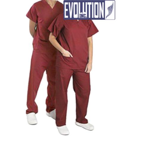 Pijama Cirúrgico Gola V Vinho