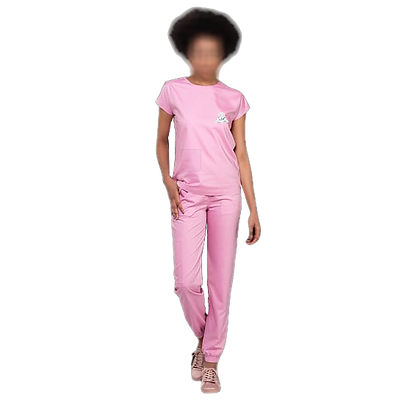 Pijama Cirúrgico gola trad. cor  Rosa