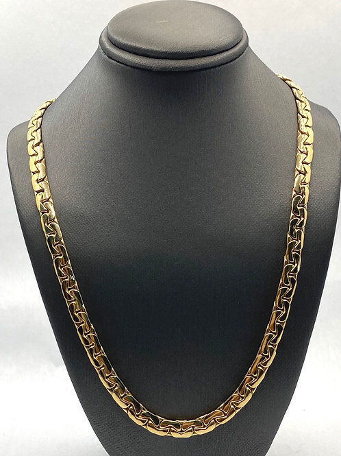 14KT Gold Flat Gucci Necklace.