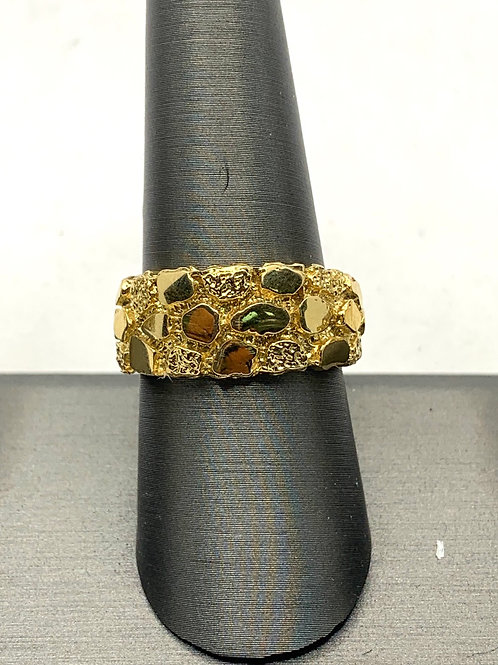 14KT Gold Nugget Band Ring